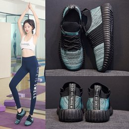 Wholesale Yeeloca Spring and Summer New Wave Lazy Set of Feet Casual Shoes Female Flying Woven Net Korean Sports Coconut Shoes Women