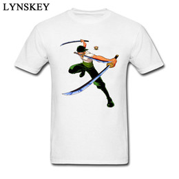 Wholesale stylish mens white t shirts for sale – custom No Swordsman Zoro Swords Men White T Shirt One Piece Japan Graphic Tops Tees Stylish T shirt Mens Tshirt Anime Clothing