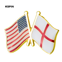 Home & Garden Badges U.s.a Ireland Friendship Flag Metal Pin Badges For Clothes In Badges Button On Brooch Plating Brooches For Jewelry Xy0271