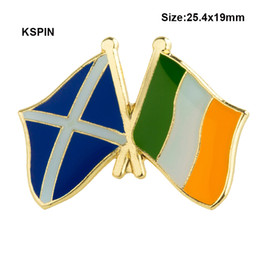 Fast Deliver Australia Ireland Friendship Flag Label Pin Metal Badge Badges Icon Bag Decoration Buttons Brooch For Clothes 1pc Badges Arts,crafts & Sewing