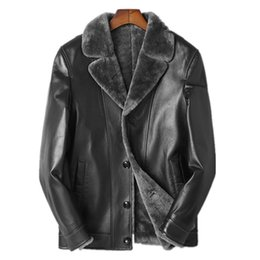 7b7dbf8bd48 Genuine Leather Jacket Natural Wool Fur Coat Winter Jacket Men Blazer  Sheepskin Coat for Men Plus Size 5xl Veste Homme MY2004