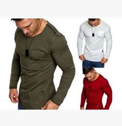 eb503f6d8 Mens T-Shirt O-Neck Long Sleeve Men T Shirt For Male Big Size Cotton Blend TShirt  high quality Business Man Tees