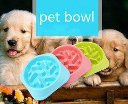 plate bowl dishes Australia - 2019 New Pet Dog Bowl Slow Feeder Plastic Anti Choking Puppy Cat Eating Dish Bowl Anti-Gulping Food Plate Hot Sale