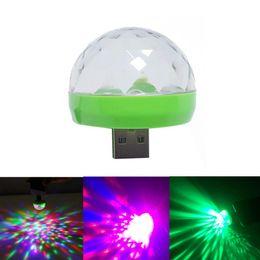 $enCountryForm.capitalKeyWord Australia - Mobile USB Music Stage Light Mini Colorful LED Party Club Disco DJ Light Crystal Portable Magic Ball Effect Lights Sound Control