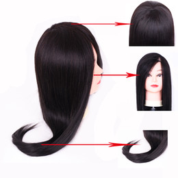 $enCountryForm.capitalKeyWord Australia - 20inch Practice Heads Maniquies Women Educational Training Hairdresser Styling Head With Black Brown Maniquin Mixed hair