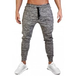 running pants sale Australia - Hot Sale Running Trackpants Mens Skinny Joggers Sweatpants Outdoor Sports Pants Gym Bodybuilding Sportswear Male Fitness Workout Trousers