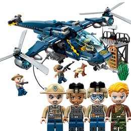 $enCountryForm.capitalKeyWord NZ - 402pcs Children's Building Blocks Toy Compatible City Osprey Dispatched City Police Series Helicopter Gunship Bricks J190719