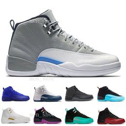 $enCountryForm.capitalKeyWord Australia - [With Box]Drop Shipping Super Perfect Quality Cheap 12 12s XII Flu Game French Blue The Master Men Basketball Sport Shoes US5.5-13