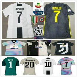 1fe38d8b448 RONALDO JUVENTUS Soccer Jerseys 2019 RONALDO  7 BUFFON 10 DYBALA MANDZUKIC  Custom 19 20 Home Away Third Men Women Kids Youth Football Shirt