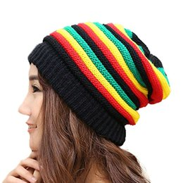 jamaica hats Australia - Jamaica Reggae Rasta Beanie Cappello Style Men's Winter Hip Pop Hats Female Green Yellow Red Black Women Fall Fashion Beanie