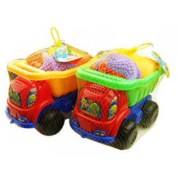 $enCountryForm.capitalKeyWord UK - 6pcs Dump Truck Beach Sand Mould Multicolor Set 14cm 5.5inch 13.5cm 5.3inch Sand Kids Water Fun Play Game Toy