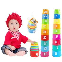 Bebé del juego del cabrito cartas educativas Copas plegables Piles apilamiento de baño Juguetes regalos de los niños Diversión Pila Copas en venta