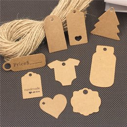 $enCountryForm.capitalKeyWord NZ - 1000Pcs Lot Packaging Label Handmade Hang Tags DIY For Garment Clothing Foods Snake Packing Price Tags Labels+100Pcs Hemp Strings