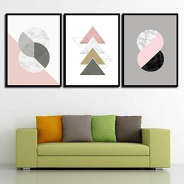 $enCountryForm.capitalKeyWord Australia - Nordic Watercolor Canvas Abstract The Circular Shape Painting Print HD Picture Poster Wall Art Living Room Bedroom Home Decor