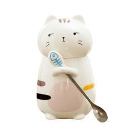 $enCountryForm.capitalKeyWord Australia - Cute 3D Cartoon Kitten mug,cute Creative Moring Mug with Lid,Milk Coffee Tea Unique Porcelain Cups mugs set Birthday Gift