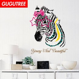 $enCountryForm.capitalKeyWord Australia - Decorate Home Zebra cartoon art wall sticker decoration Decals mural painting Removable Decor Wallpaper G-2382