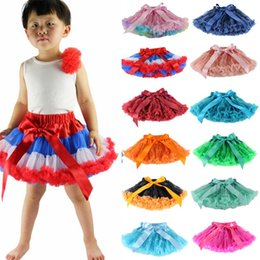 wholesale tutus Australia - Children Designer Clothes Girls TUTU Skirts Fashion Ballet Skirts Tulle Dance Dress Princess Dress Kids Dancewear 28 Colors YW4062-1
