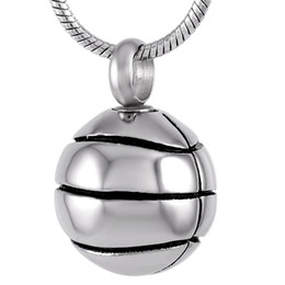 basketball jewelry for men UK - IJD8113 316L Stainless Steel Cremation Jewelry Pendant for Ashes Urn Necklace Basketball Shape Memorial Necklace for Men