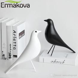 $enCountryForm.capitalKeyWord Australia - ERMAKOVA The Mid Century Bird Figurine House Bird Animal Statue Dove of Peace European Mascot Home Bar Coffee Decor