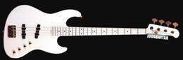 $enCountryForm.capitalKeyWord Australia - Custom 4 Strings Moon Bass JJ-4B Larry Graham All White Electric Bass Guitar Ash Body, Maple Neck & 21 Frets Fingerboard, Gold Hardware