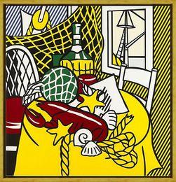 $enCountryForm.capitalKeyWord NZ - Roy Lichtenstein Still Life With Lobster High Quality HandPainted &HD Print Wall Art Oil Painting On Canvas Home Decor Multi sizes R13