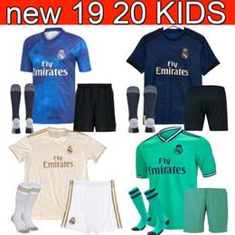 real uniform 2019 - 19 20 Real madrid Soccer Jersey 2019 Jovic MARIANO kids+sock HAZARD Modric Kroos Sergio Ramos child EA Sports ASENSIO IS