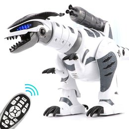 control charger NZ - RC Intelligent Dinosaur Model Electric Remote Control Robot Mechanical War Dragon With Music&Light Functions Children Hobby Toys
