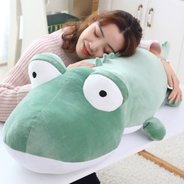 Crocodiles Alligator Toys Australia - Dorimytrader new crocodile plush toy doll giant animal alligator sofa bed sleeping pillow for children gift 55inch 140cm DY50623