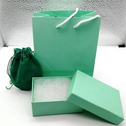 $enCountryForm.capitalKeyWord NZ - 2019 New arrive Fashion brand red orange white green color H bracelet box package set original handbag and velet bag jewelry gift box
