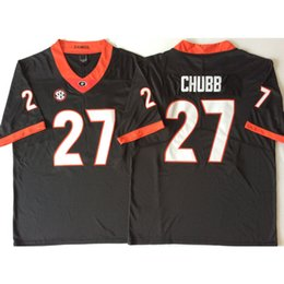 fd4819e87 Mens Georgia Bulldogs Nick Chubb Stitched Name Number American College Football  Jersey Size S-3XL