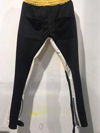 Free Tracks Australia - Fear Of God Stripe Jogger Zipped Pockets Ankle Panelled Track Pants Free Shipping