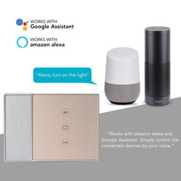 $enCountryForm.capitalKeyWord NZ - Gold Silver Smart Life WiFi Curtain Switch for Electric Motorized Curtain Blind Roller Shutter works with Alexa&Google home