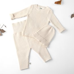 autumn children set baby girl toddler Australia - 2018 Baby Clothes For Kids Children Boys Girls Sweater For Winter Autumn Pants Sets Soft Cute With Long Sleeve Hat Toddler Baby V191115
