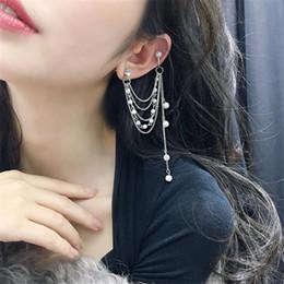 $enCountryForm.capitalKeyWord Australia - 1 PC Elegant Pearl Long Chain Clip on Earrings for Women Bridal Ear Stud Ear Cuff Bohemian Wedding Party orecchini Jewelry