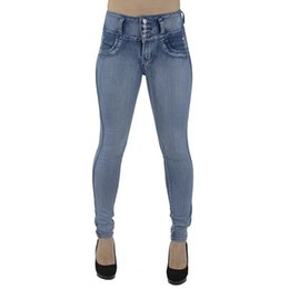high waisted slimming pencil jeans UK - Hxroolrp Fashion Jeans Women High Waisted Skinny Denim Jeans Stretch Pencil Pants Slim Trousers pour dames C5
