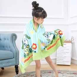 Children Towel Blanket Australia - Kids Beach Towel 120*60cm Baby Bath Towel Cotton Children Bath Blanket Infant Shower Towel 20 Pieces DHL