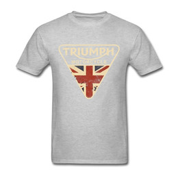 Uk Clothes Australia - Craked Union Jack Triumph Motorcycle Shirt UK Flag Clothing Men T Shirt Men's Vintage Tee Tops Branded Gifts for Valentines Day