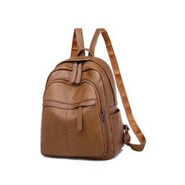 high school lights 2019 - New Women Bag Lovely Leather Backpack Plain Rucksack Waterproof Cloth School Shoulder Bag High Quality Fashion cheap hig