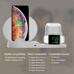 Wholesale QI Wireless Charger Stand For IPhone Wireless Charging Dock Station In For Apple AirPods Apple Watch box