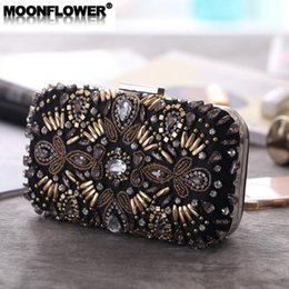 Wholesale brand women handbag high end bead embroidery dinner bag elegant temperament diamond dinner chain bag banquet night club dress bag