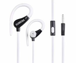 apple iphone earbuds Canada - New sport earphone Stereo Earbuds ,3.5mm plug IN ear headphone Headsets with Mic for Mobilephone  iPhone Huawei samsung htc ipad