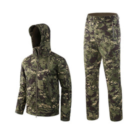 Army jAcket tAd online shopping - Outdoor Waterproof Jackets Suit TAD V4 Softshell Tactical Hunting Outfit Thermal Clothes Hiking Breath Sport jacket and pants