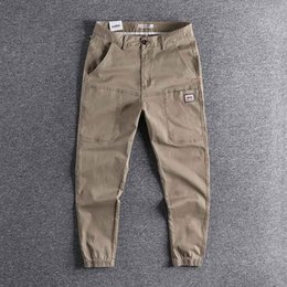 Wholesale harlem pants for sale – dress All kinds of overalls men s fashion brand Leggings loose tapered Harlem PANT YOUTH Capris casual pants high quality trouser