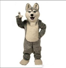 adult dog costumes Canada - 2019 factory sale hot Wolf mascot costumes halloween dog mascot character holiday Head fancy party costume adult size birthday0