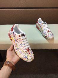 Toptan satış Adı Marka Kanye West Arena Ayakkabı Adam Rahat Sneaker Kırmızı Moda Tasarımcısı Yüksek Üst Ucuz Sneaker Siyah Beyaz Parti Ayakkabı Eğitmeni Boyutu 61963