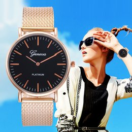 geneva watches water resistant Australia - middle East hot gold silver mesh soft belt women's watch Geneva girls watch women fashion bracelet woman wrist watches lady gift