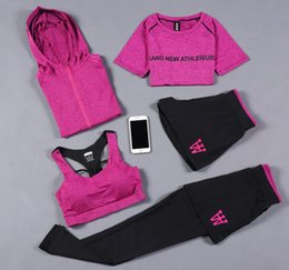 Low Yoga Pants Australia - Sexy Yoga Set Women Fitness Running TShirt Pants Breathable Gym Workout Clothes Compressed Yoga Leggings 3-5pcs Sport Suit