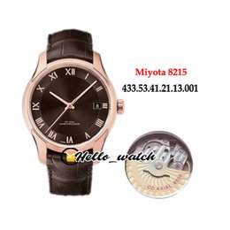 hour vision UK - New Hour Vision 41mm 433.53.41.21.13.001 Miyota 8215 Automatic Mens Watch Rose Gold Case Brown Dial Brown Leather Strap Watches Hello_watch