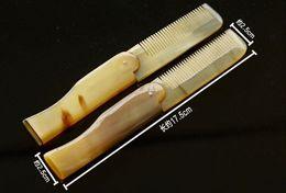 $enCountryForm.capitalKeyWord Australia - Foldable Horn comb Portable Folding Comb Anti-Static Hairbrush Handmade Natural Ox Horn Combs