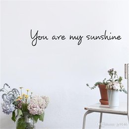 $enCountryForm.capitalKeyWord Australia - You Are My Sunshine Wall Sticker Quotes Vinyl Self-adhesive Lovely Words and Letters Wall Art Decals for Bedroom Kids Room Decoration
